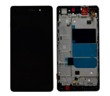 Display vetro lcd + touch screen + frame HUAWEI P8 LITE