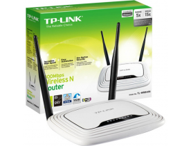 ROUTER WI-FI 300Mbps 2x2 MIMO WIRELESS ACCESS POINT 4LAN streaming HD TL-WR841N