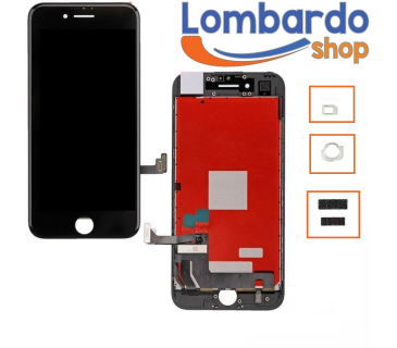 Touch screen + lcd display retina + frame Apple iPhone 7 vetro schermo nero